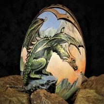 Drachenei Olivin Bild