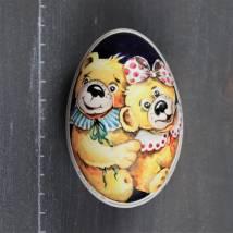 Teddypaar gelb Bild