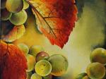Triptychon  mit Weintrauben