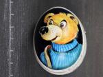 Teddybär mit blauen Pullover